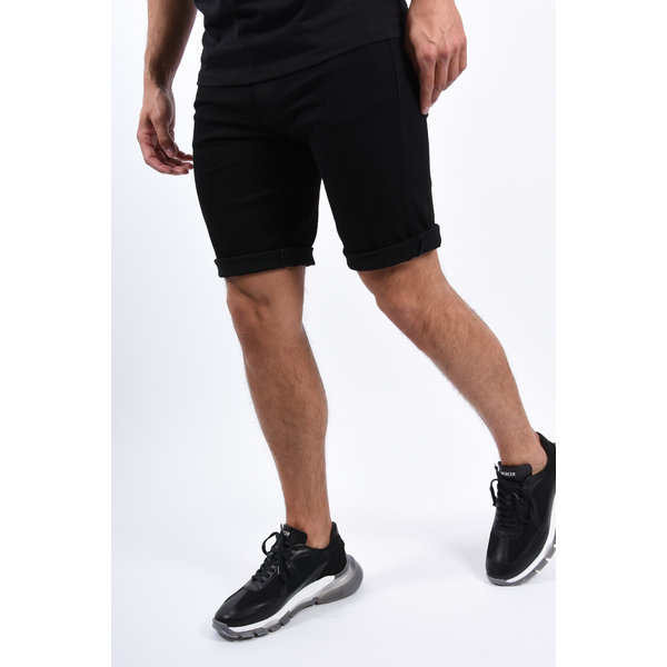 Y Jeans Stretch Shorts Black