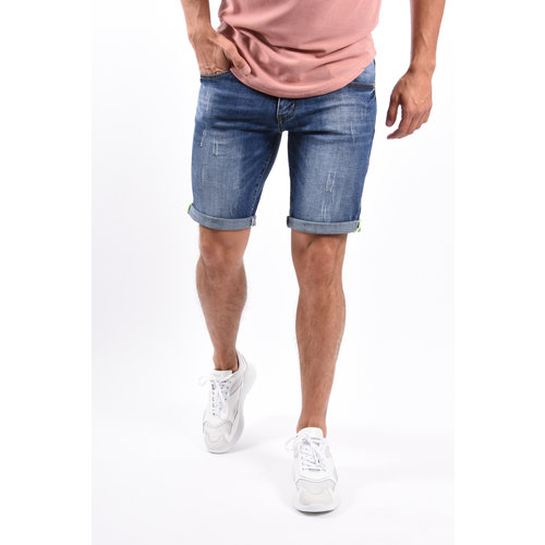 Y Jeans Stretch Shorts Blue