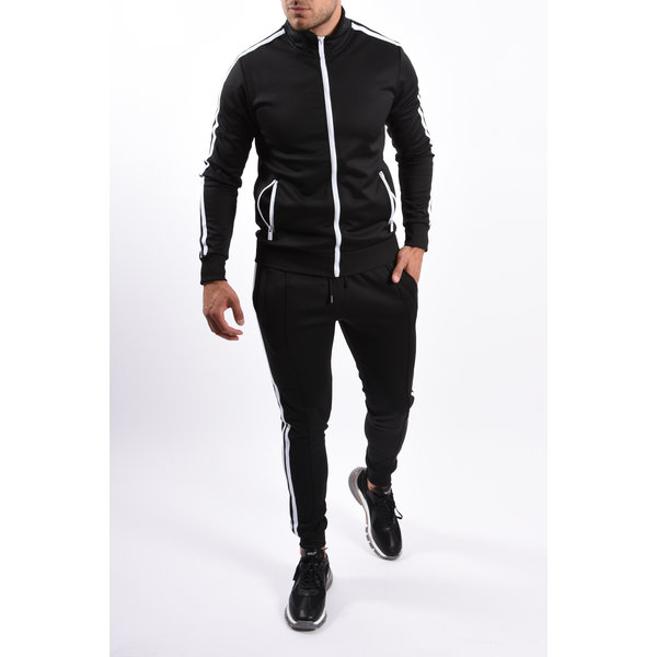 Y Tracksuit striped Black