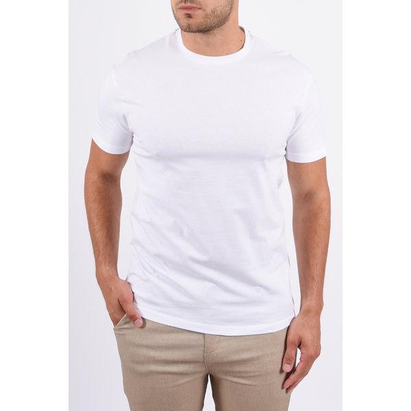 Y Basic stretch round neck t-shirt white