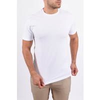 Y Basic stretch round neck t-shirt white
