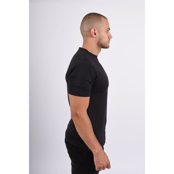 Y Basic stretch round neck t-shirt black