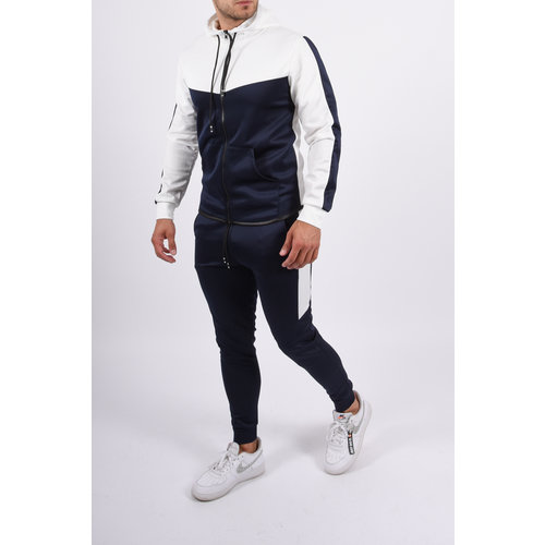 Y Tracksuit  White / Blue