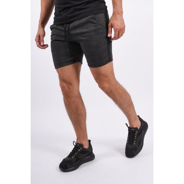 Y YUGO Checkered Shorts Dark Grey