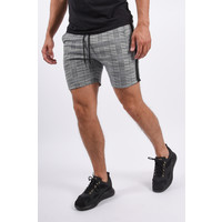 Y YUGO Checkered Shorts Light Grey