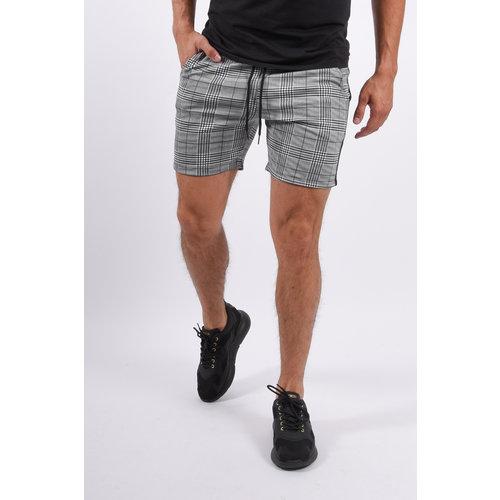 Y YUGO Checkered Shorts Light Grey