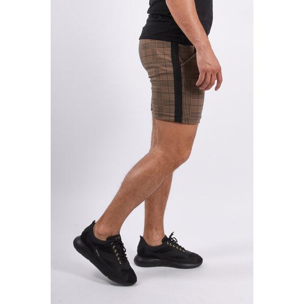 Y YUGO Checkered Shorts Brown