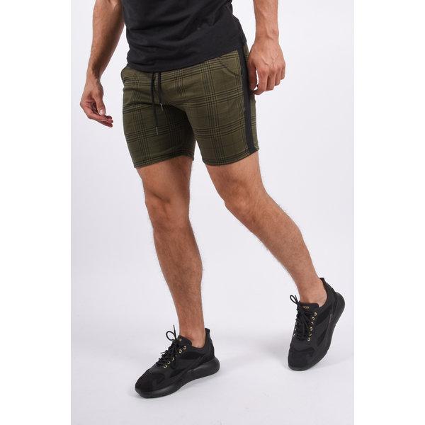 Y YUGO Checkered Shorts Green