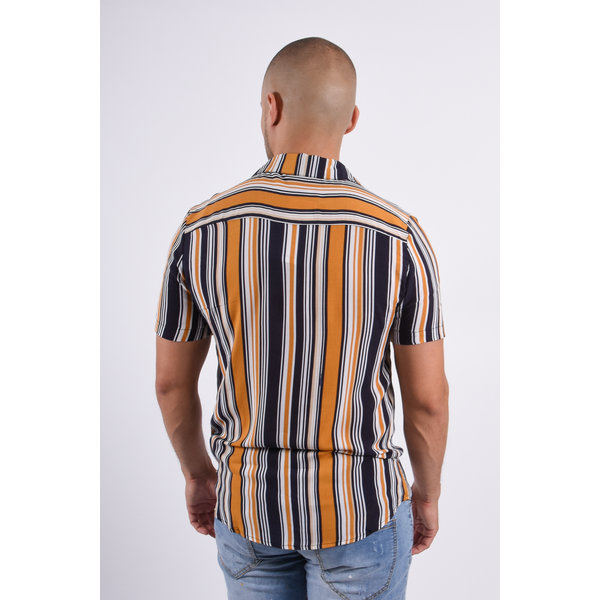 Y Summer Blouse Striped Yellow