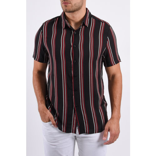 Y Summer Blouse Striped Black/red/white
