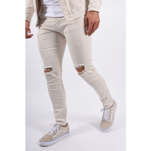 Y Skinny fit stretch jeans Destroyed Beige