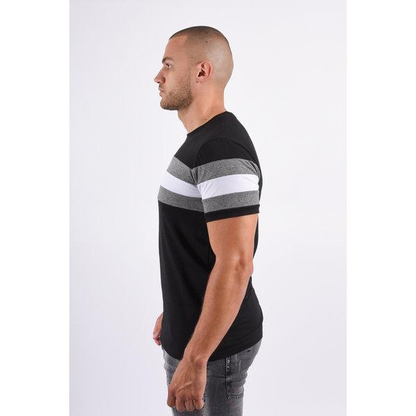 T-shirt Striped Black / Grey