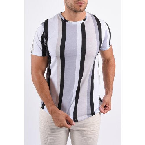 Y T-Shirt stripes White/Blue