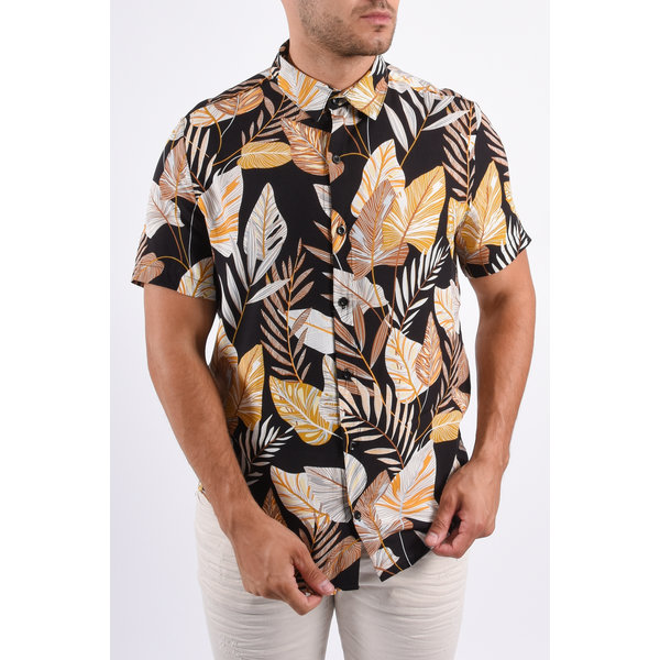 Y Summer Blouse Hawaï Black