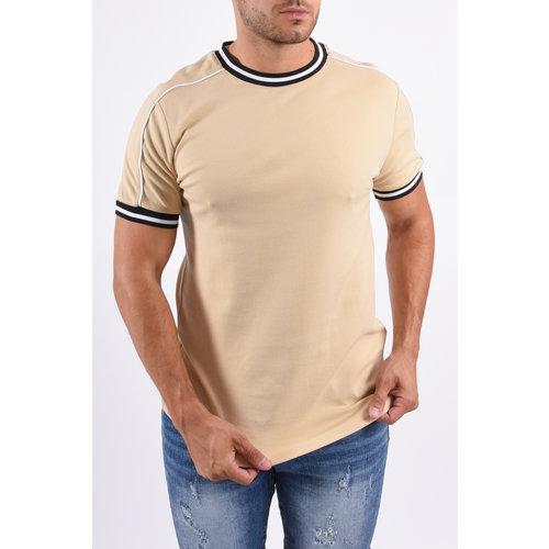 Y T-shirt Striped Details Beige