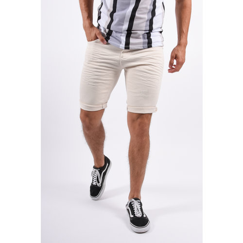 Y Jeans Stretch Shorts Beige