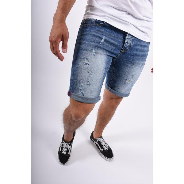 Y Jeans Stretch Shorts Blue