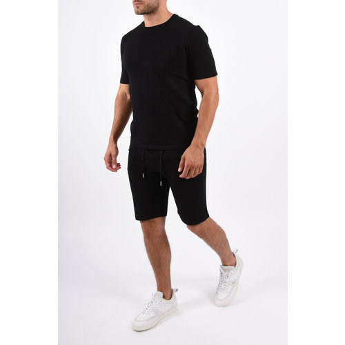 Y Two Piece Set / T-shirt+Shorts Black