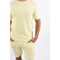 Y Two Piece Set / T-shirt+Shorts Light Yellow