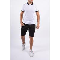 Y Two Piece Set Polo + Shorts Black / White