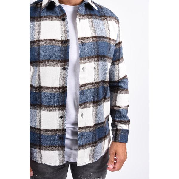 Y Flannel Shirt Indigo