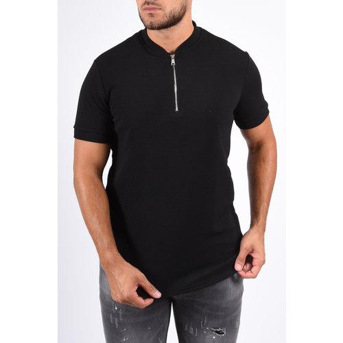 Y Zipper Shirt Black