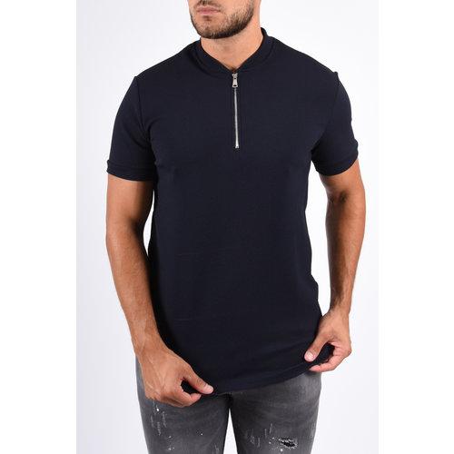 Y Zipper Shirt Dark Blue