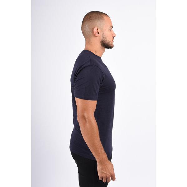 Y Basic stretch round neck t-shirt dark blue