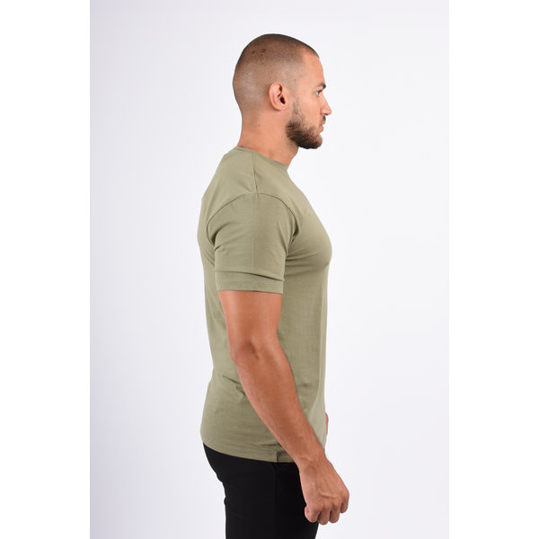 Y Basic stretch round neck t-shirt green