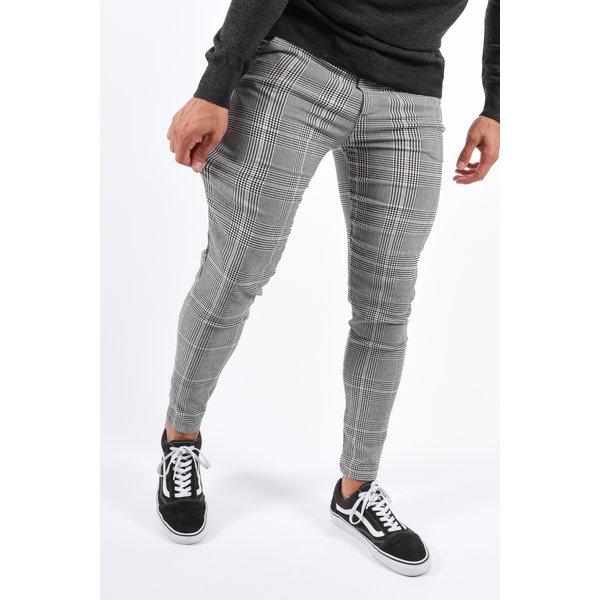 Y Stretch Pantalon Grey / Beige