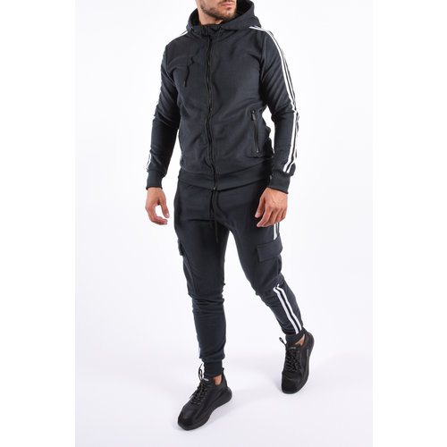 Y Tracksuit Plush Cargo Striped  Grey