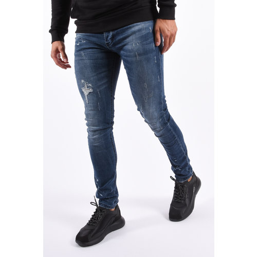 Y Skinny Fit Stretch Jeans Blue slightly splashed