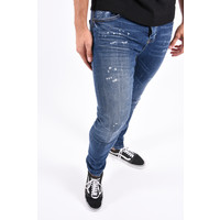Y Skinny Fit Stretch Jeans Blue slightly splashed