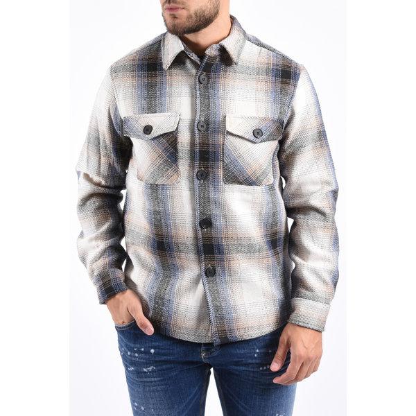 Y Flannel Jacket Blue / Beige