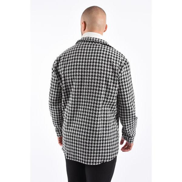 """Y Shirt / Vest """"Pied De Poule Print"""""""