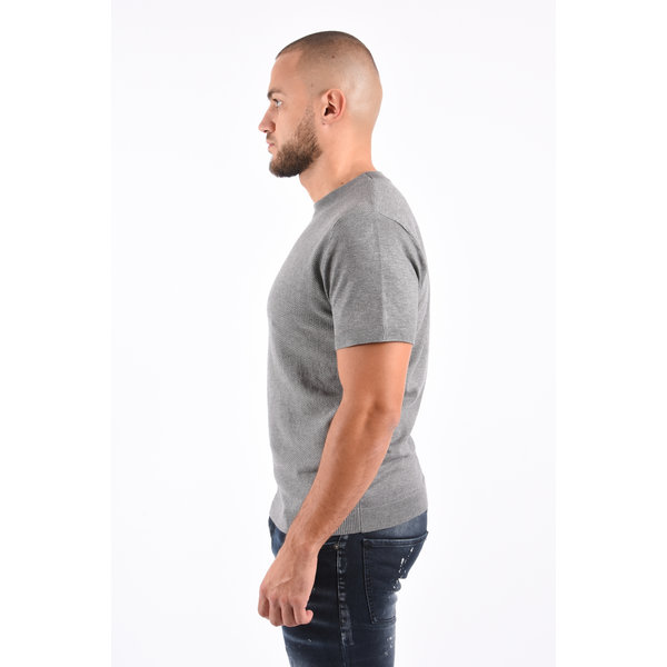 Y Knitted T-Shirt Grey