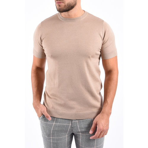 Y Knitted T-Shirt Camel