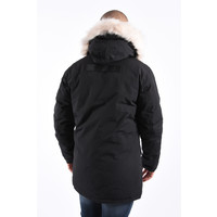 Y Winter Parka White Faux Fur - Black