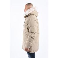 Y Winter Parka White Faux Fur - Beige