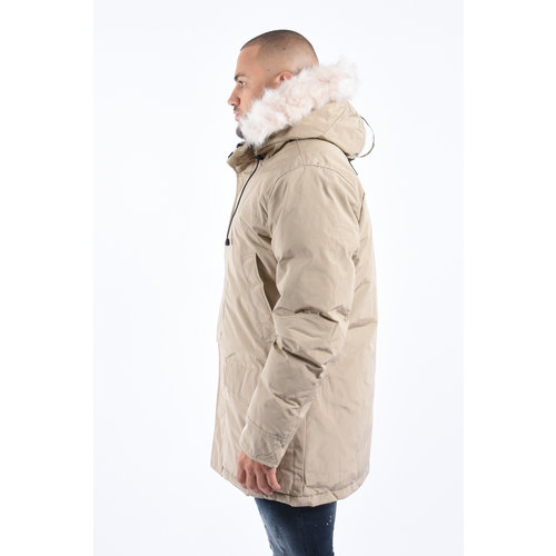 Y Winter Parka White Faux Fur - Beige