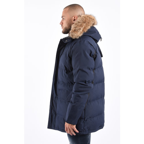 Y Winter Parka Brown Faux Fur - Navy / Black