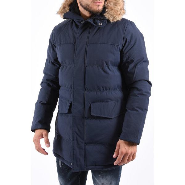 Y Winter Parka Brown Faux Fur - Navy / Black