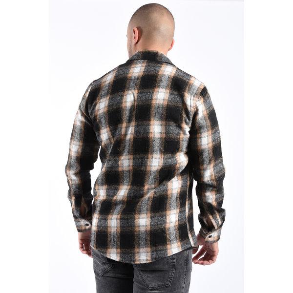 Y Flannel Shirt Black/Mink