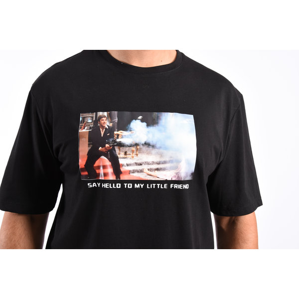 "Y T-shirt ""little friend"" Black"