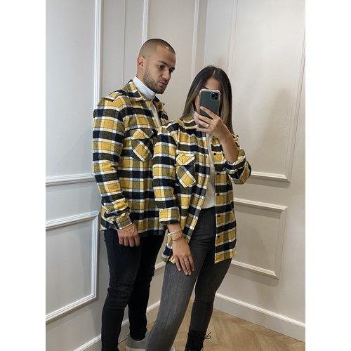 Y Flannel Shirt Yellow