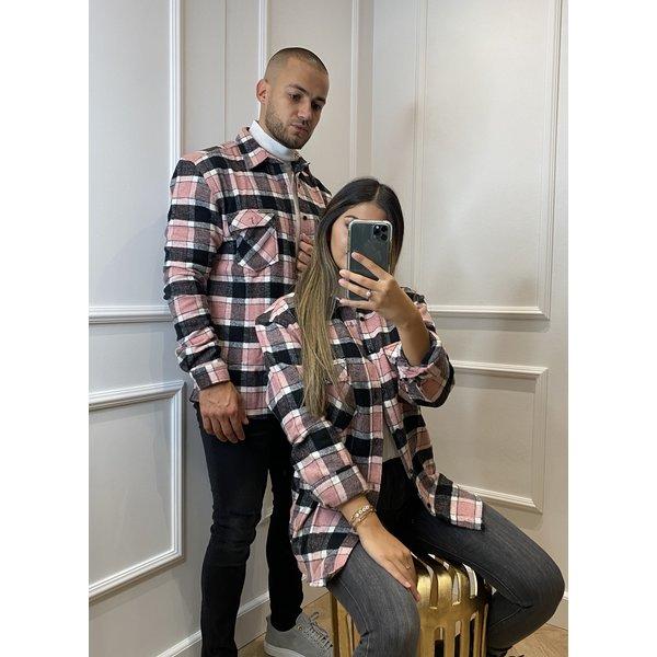 Y Flannel Shirt Pink