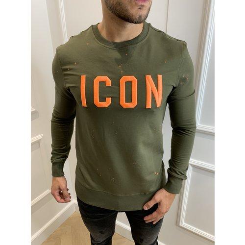 "Y Sweatshirt ""icon"" Green / Orange"