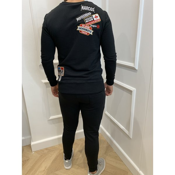 Y Tracksuit patched Black