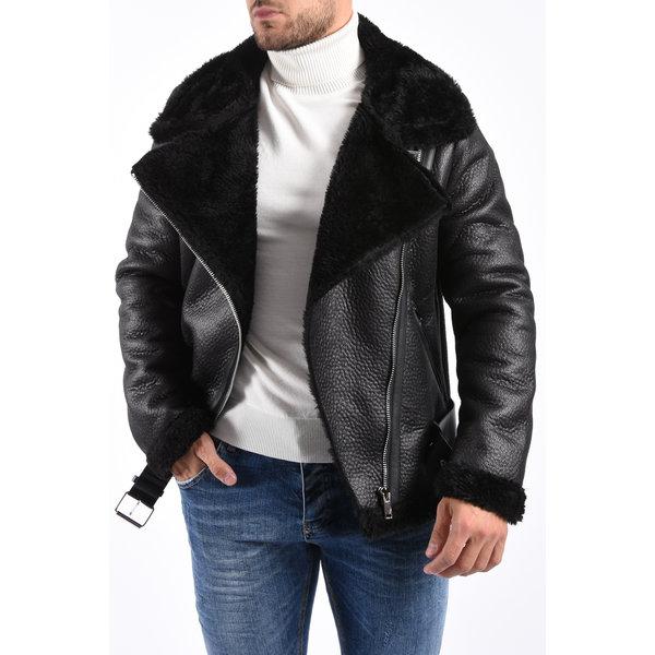 Y Aviator Lammy Jacket Black on Black