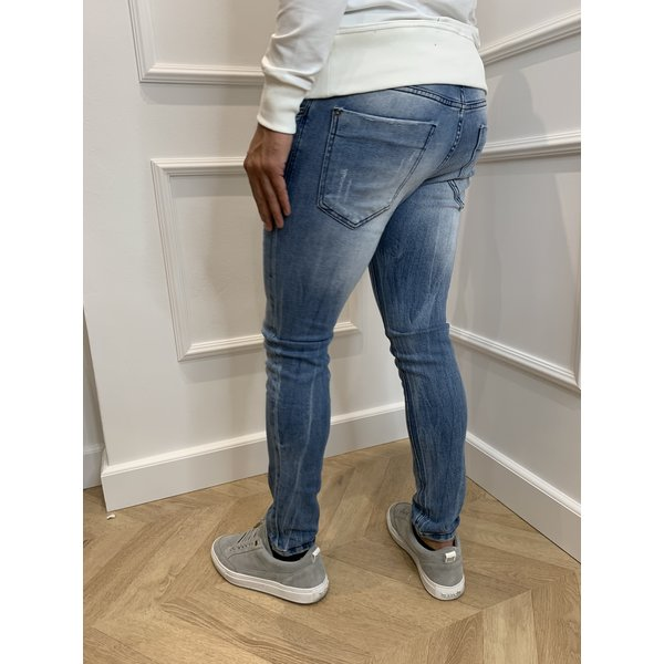 Y Skinny Fit Stretch Jeans Light Blue Washed